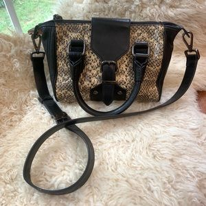 KENNETH COLE AUTHENTIC LEATHER SNAKESKIN CROSSBODY